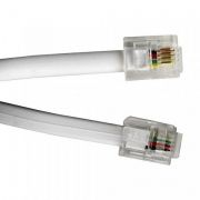 Кабель телефонный c разъёмами 6p4c RJ11, 1.5 м, белый, LP (0L-00028439)