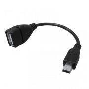 Адаптер OTG USB 2.0 Af - mini Bm, 0.1 м, черный, европакет, LP (0L-00002568)