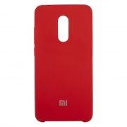 Клип-кейс для Xiaomi Redmi 5, красный, силиконовый (0L-00038638)
