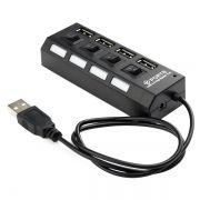 HUB 4-port Gembird UHB-243-AD USB 2.0 с подсветкой и выключателем