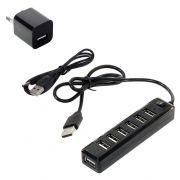 HUB 7-port ORIENT KE-720 с блоком питания 5В/1А, выключатель, USB 2.0