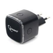 Беспроводной WiFi ретранслятор Gembird WNP-RP-004-B с RJ45, 802.11b/g/n, 300 Мбит/с, чёрный