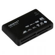 Карт-ридер внешний USB ORIENT CR-02BR ALLin1, черный (26973)