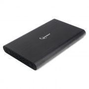 Внешний контейнер для 2.5 HDD S-ATA Gembird EE2-U3S-50, чёрный, металл, USB 3.0