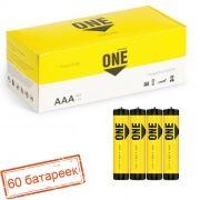 Батарейка AAA SmartBuy ONE R03 SR4, солевая, упаковка 60 шт (SOBZ-3A04S-Eco)