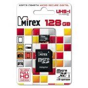 Карта памяти Micro SDXC 128Gb Mirex Class 10 UHS-I + адаптер SD (13613-AD10S128)