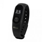 Фитнес-трекер RITMIX RFB-100, шаги/расстояние/калории/пульс/сон, резиновый браслет, черный