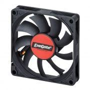 Вентилятор 80 x 80 x 15, 3 pin, 12V, втулка, кабель 30 см, Exegate (EX180973RUS)