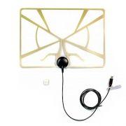 Антенна комнатная для ТВ, VHF/UHF, DVB-T2, активная, Selenga 103A (2234)