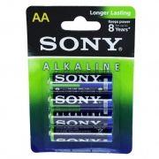 Батарейка AA SONY LR6-4BL Alkaline, 4шт, блистер