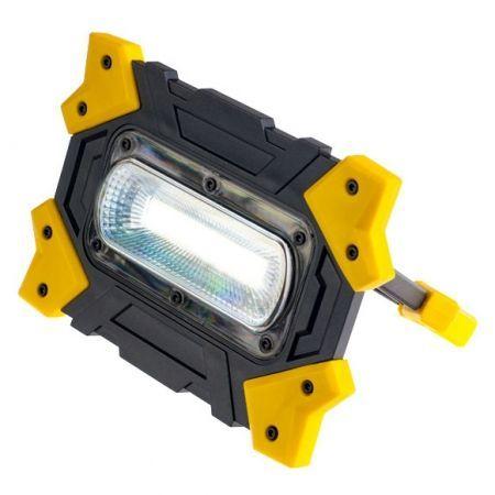 Фонарь-прожектор Perfeo Work Light, 10W COB, 4xAA, желтый (PF_A4418)