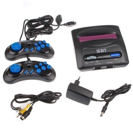 Игровая приставка 16-bit Sega Magistr Drive 2 Little 160 игр, 2 джойстика, кабель AV, адаптер