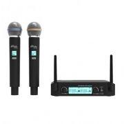 Микрофонная система RITMIX RWM-222, черный, 2 беспроводных микрофона, до 50 м