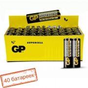 Батарейка AA GP Supercell R6/2SH, солевая, 40 шт, коробка (GP 15S-0S2)