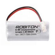 Аккумулятор для радиотелефона ROBITON DECT-T356-2XAAA 2.4V 800mAh Ni-Mh (14617)