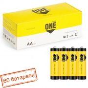 Батарейка AA SmartBuy ONE R6/4S, солевая, упаковка 60 шт (SOBZ-2A04S-Eco)