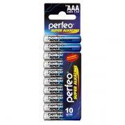 Батарейка AAA Perfeo LR03/10SH Super Alkaline, 10шт, Shrink Card