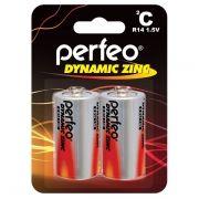 Батарейка C Perfeo Dynamic Zinc R14/2BL, солевая, 2 шт, блистер