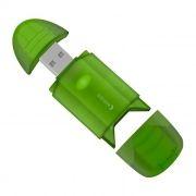 Карт-ридер внешний USB Oxion OCR003GR, SD, зеленый