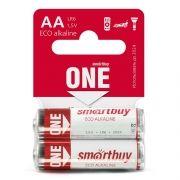 Батарейка AA SmartBuy ONE LR6/2SB Alkaline, 2 шт, Shrink Card (SOBA-2A02SB-Eco)