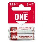 Батарейка AAA SmartBuy ONE LR03/2SB Alkaline, 2 шт, Shrink Card (SOBA-3A02SB-Eco)
