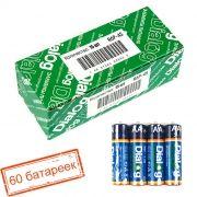 Батарейка AA DIALOG R6P-4S солевая, 60 шт, коробка