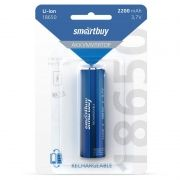 Аккумулятор 18650 Smartbuy 2200мА/ч, блистер (SBBR-18650-1B2200)