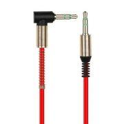 Кабель аудио 3.5 stereo plug -> 3.5 stereo plug, 1 м, угловой, красный, Smartbuy (A-35-35-fold red)