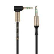 Кабель аудио 3.5 stereo plug -> 3.5 stereo plug, 1 м, угловой, черный, Smartbuy (A-35-35-fold black)