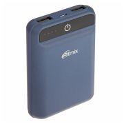 Зарядное устройство RITMIX RPB-10003L Blue, 10000 мА/ч Li-Pol, 2xUSB