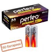 Батарейка AA Perfeo R6/2SH Dynamic Zinc, 60 шт, коробка