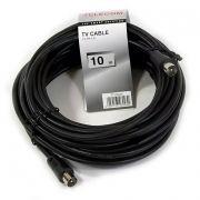 Кабель антенный TV (М) -> TV (M), 10 м, черный, TELECOM (TTV9555-10M)