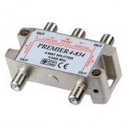 Антенный разветвитель на 4 ТВ, с проходом питания, 5 - 2400 МГц, F-разъем, Premier (4-834)