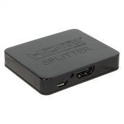 Разветвитель 1 HDMI вход => 2 HDMI выхода, 4K/1080p, HDCP, 3D, питание USB, черный, ORIENT HSP0102HL
