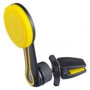 Держатель автомобильный на вентил. решетку, до 6,5, магнитный, черный/желтый, Perfeo 532 (PF_A4345)