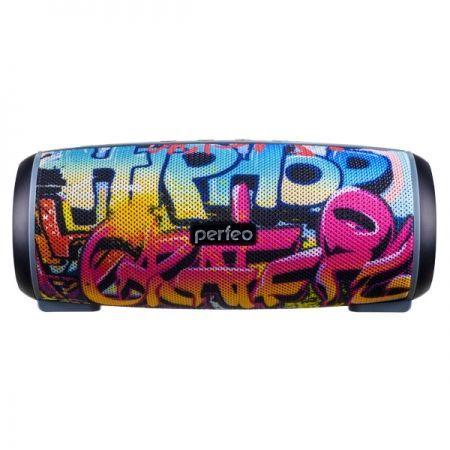 Колонка 1.0 Perfeo HIP HOP, Bluetooth, MP3, FM, 12W, 2600 мАч, граффити (PF_A4336)