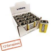 Батарейка 9V VARTA 6F22/1SH Superlife, солевая, 12 шт, коробка (2022)