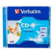 Диск CD-R VERBATIM 700Mb Azo Printable 52x, Jewel Box (43324/43325)