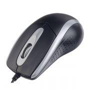 Мышь Perfeo Tour, черно-серебристая, USB (PF_A4751)