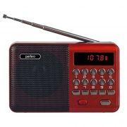 Мини аудио система Perfeo PALM, MP3, FM, акк. 18650, красная (i90-BL) (PF_A4871)