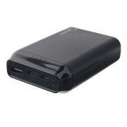 Зарядное устройство Gembird GPB-101, 10000 мА/ч, 2.1A, USB + переходники Type-C, Lightning, черное
