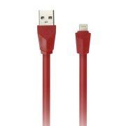 Кабель USB 2.0 Am=>Apple 8 pin Lightning, 1.2 м, плоский, красный, Smartbuy (iK-512r red)