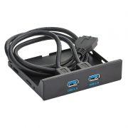 Панель фронтальная 3.5 с 2 портами USB 3.0, Exegate (U3H-615)