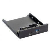 Панель фронтальная 3.5 с портом USB 3.0 и Type C, Exegate (U3H-617)