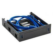 Панель фронтальная 5.25 с 2 портами USB 3.0 + салазки для 3.5