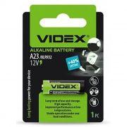 Батарейка A23 12V VIDEX A23/E23A, 1 шт, блистер