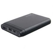 Зарядное устройство Gembird GPB-100, 5000 мА/ч, 2.1A, USB + переходники Type-C, Lightning, черное
