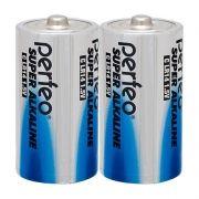 Батарейка C Perfeo Super Alkaline LR14/2SH, щелочная, 2 шт, термопленка