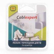 Разъём F штекер на кабель RG-6, без пайки, 5 шт, блистер, Cablexpert (SPL6-01)
