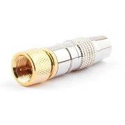 Разъём F штекер на кабель RG-6, без пайки, латунь, позол., блистер, Cablexpert (SPL6-04)